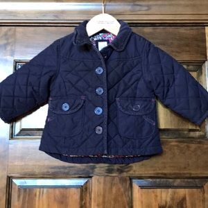 Gap quilted navy jacket